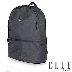 ELLE 巴黎輕旅商務基本款後背包- 深藍色