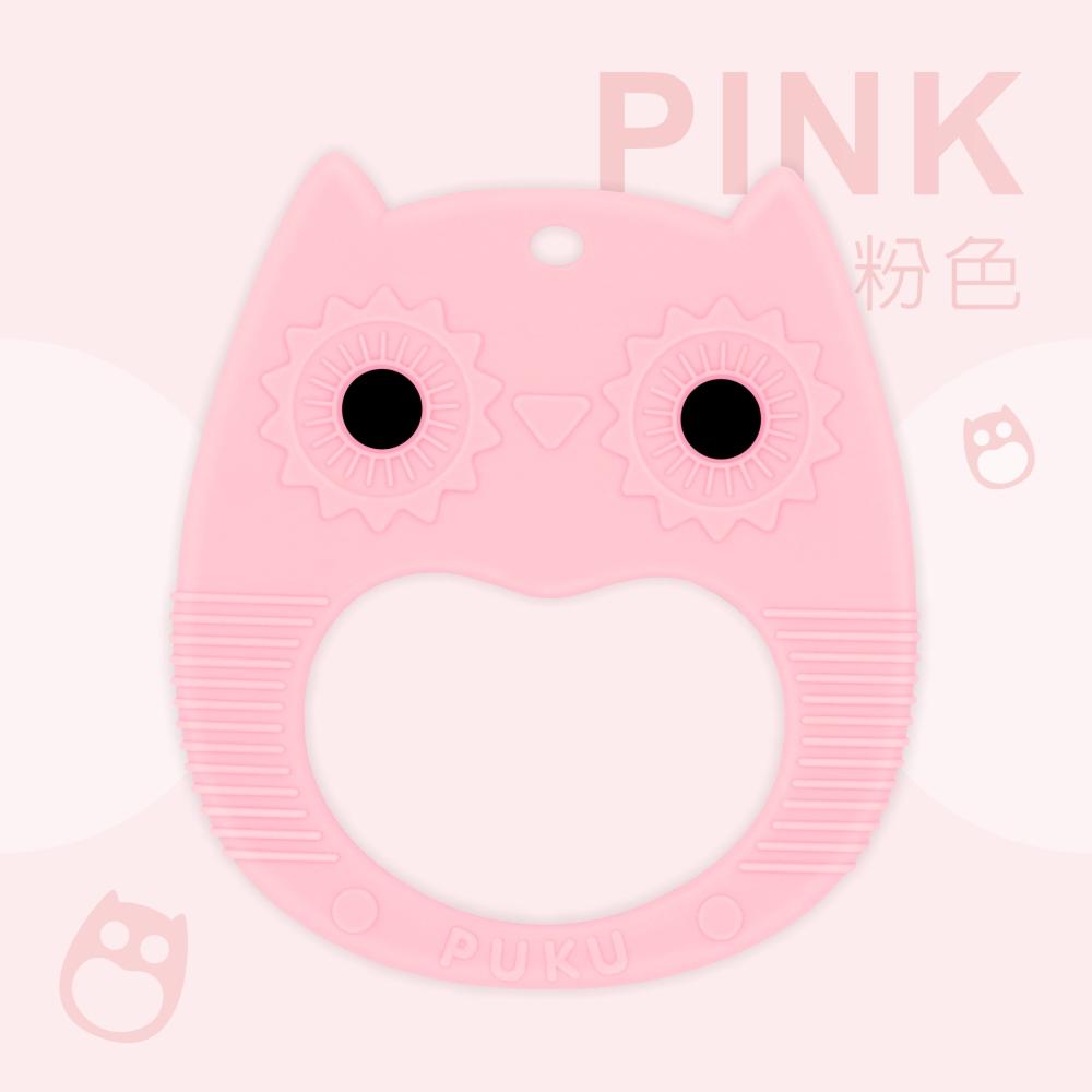 【PUKU】Baby GaGa貓頭鷹固齒器(含鍊夾/收納盒) product image 1