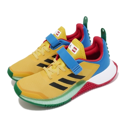adidas 慢跑鞋 LEGO Sport EL 運動 女鞋 愛迪達 樂高系列 聯名 舒適 避震 球鞋 黃 藍 FY8440