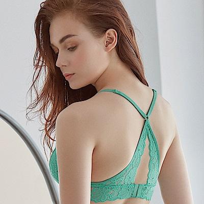 推easybody-BRALETTE 無鋼圈性感美背款內衣(湖水綠)