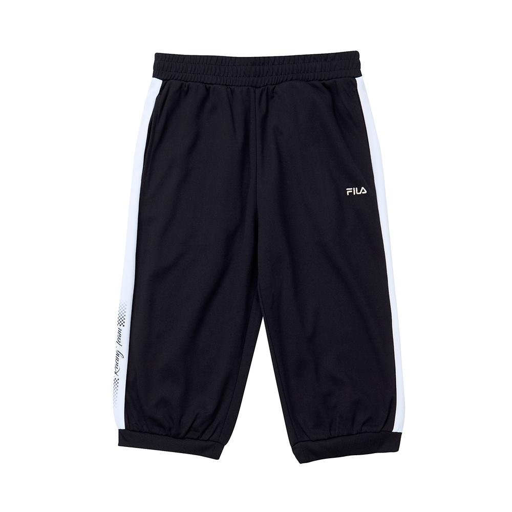 FILA KIDS 童吸濕排汗六分褲-黑色 5SHT-4465-BK