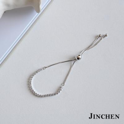 JINCHEN 純銀華麗水鑽手鍊