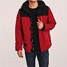 海鷗 Hollister 年度熱銷經典標誌防風防潑水風衣外套-黑紅色