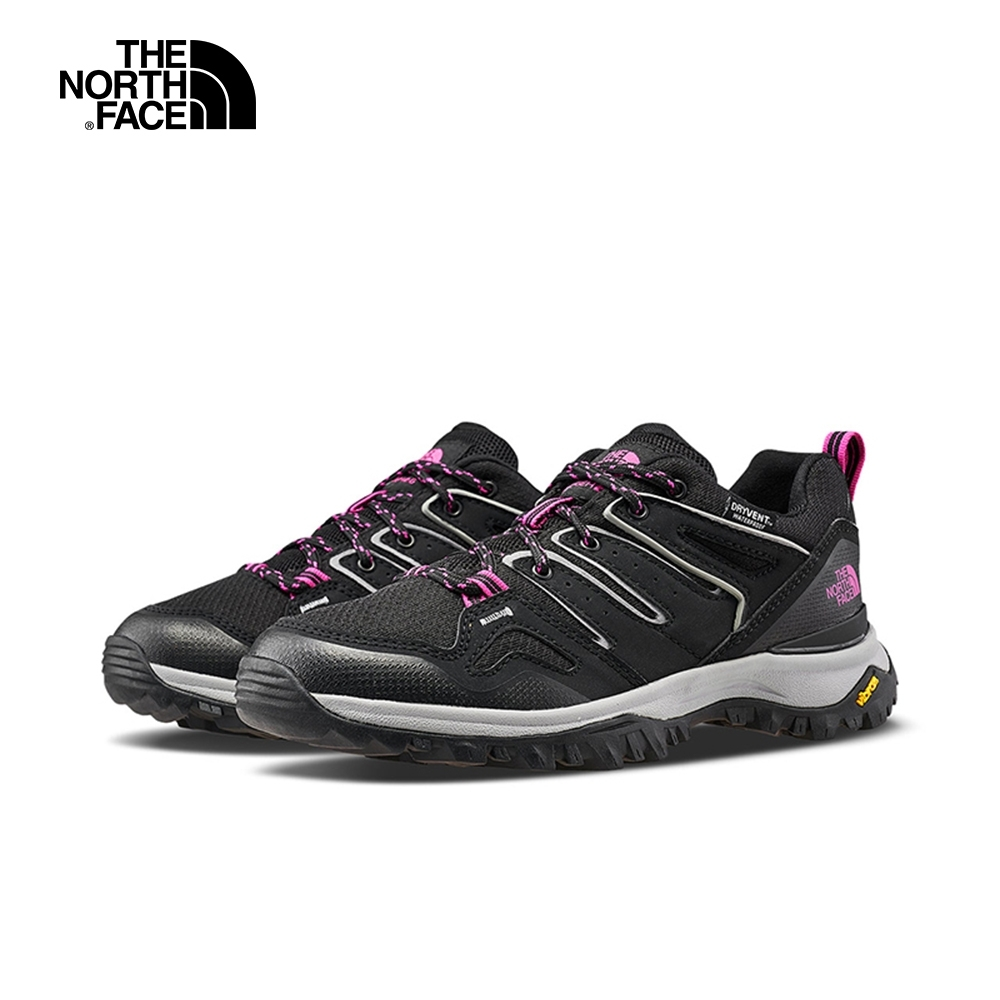 The North Face北面女款黑粉色防水抓地徒步鞋|46AQJ94