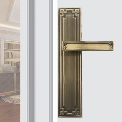 中式古典 青古銅 連體鎖 面板鎖 水平鎖 水平把手 把手鎖 房門鎖 民族風