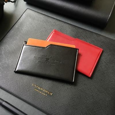 PLEPIC 極簡職人皮革票卡夾-尊爵黑