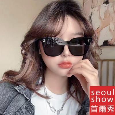 [時時樂限定]seoul show首爾秀 D字韓款無邊框太陽眼鏡UV400墨鏡 9115
