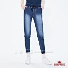 BRAPPERS 女款 Boy friend系列-針織雷射束口八分褲-藍