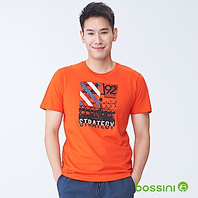 bossini男裝-印花短袖T恤06橘