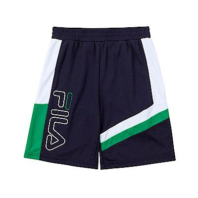 FILA KIDS 童吸濕排汗五分褲-綠 1SHT-4426-GN