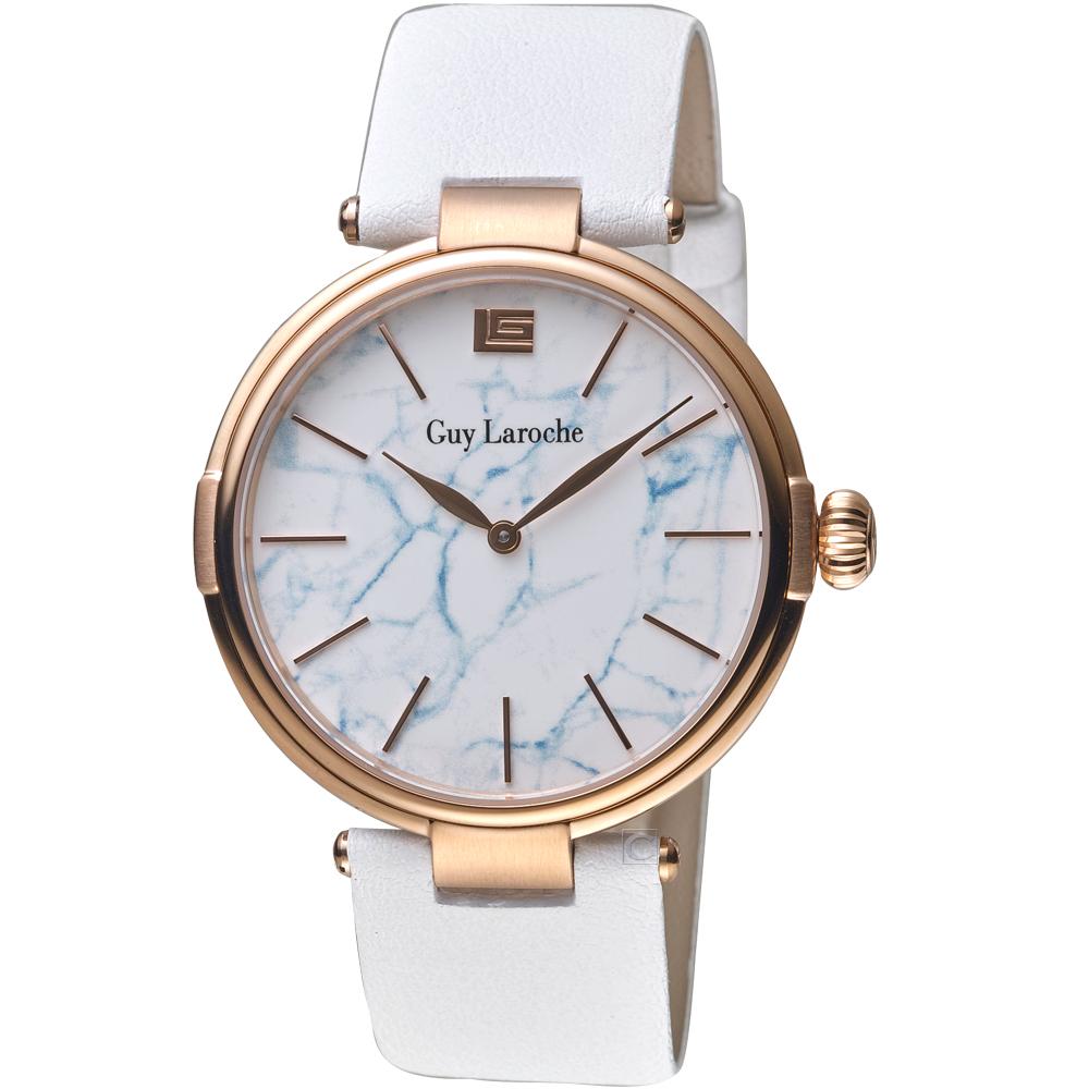姬龍雪Guy Laroche Timepieces大理石紋理時尚錶(GW1025B-05)