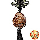 紅運當家 花梨木精緻巧雕 如意彌勒佛 平安掛飾
