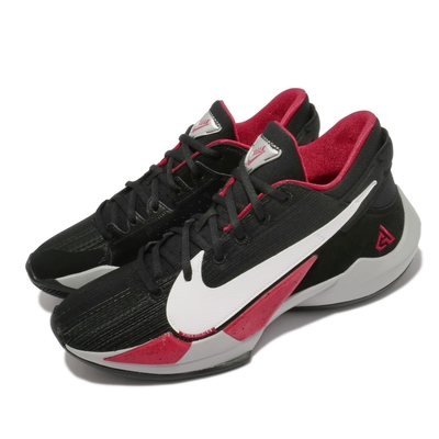 Nike 籃球鞋 Zoom Freak 2 運動 男鞋 避震 包覆 明星款 字母哥 球鞋 穿搭 黑 紅 CK5424003