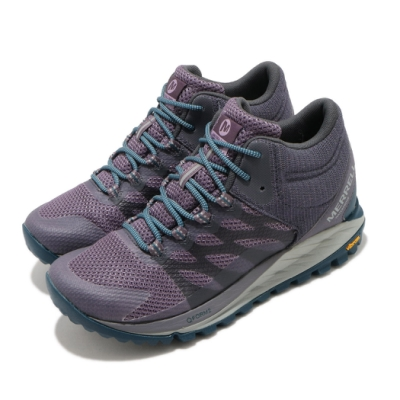 Merrell 戶外鞋 Antora 2 Waterproof 女鞋 登山 越野 郊遊 防水 耐磨 黃金大底 紫 藍 ML035648