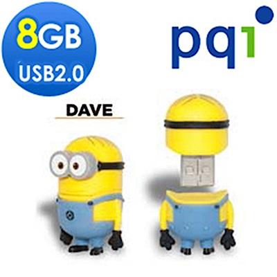PQI神偷奶爸小小兵DAVE 8G造型隨身碟(福利品包裝盒小損)