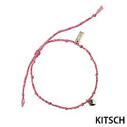 KITSCH 美國加州時尚品牌 許願心鍍金粉色手鍊