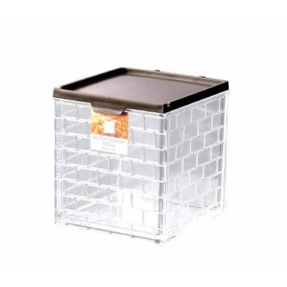 日本製【INOMATA】廚房儲物盒430ml 棕