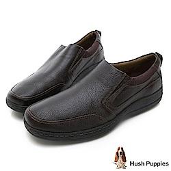 Hush Puppies ELKHOUND 超彈力直套式休閒鞋-棕