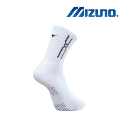 Mizuno 男運動厚底襪(6雙入)白x黑32TX90G809Q