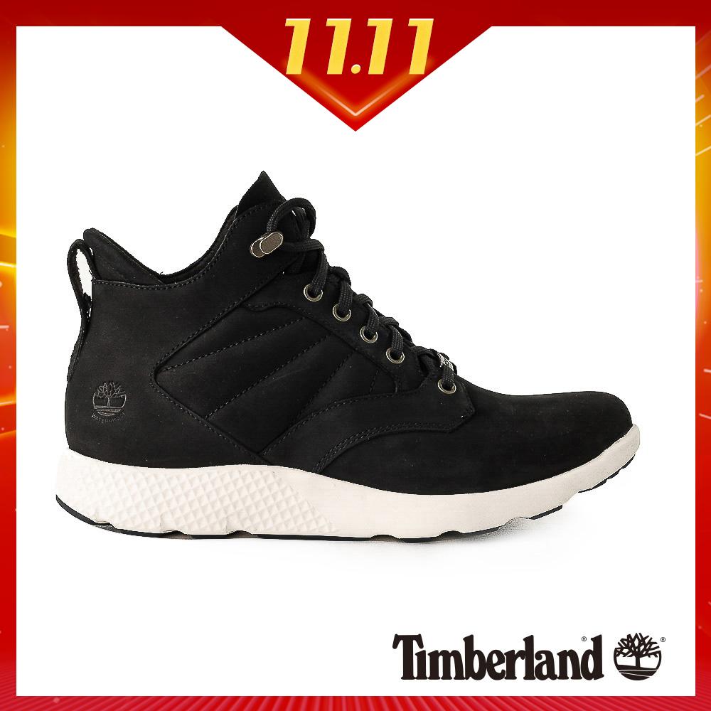 Timberland 男款黑色正絨面皮革Flyroam™運動靴|A1SAE