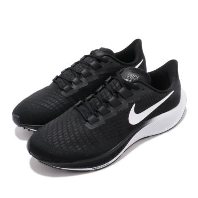 Nike 慢跑鞋 Zoom Pegasus 37 運動 男鞋 氣墊 避震 包覆 路跑 健身 小飛馬 黑 白 BQ9646002
