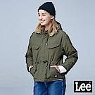 Lee 連帽短版舖棉外套/RG-墨綠色