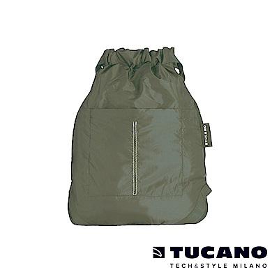 TUCANO COMPATTO 超輕量折疊收納防水束口袋-軍綠