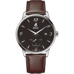 ERNEST BOREL 瑞士依波路錶 雅麗系列5650不鏽鋼皮帶-黑色41mm