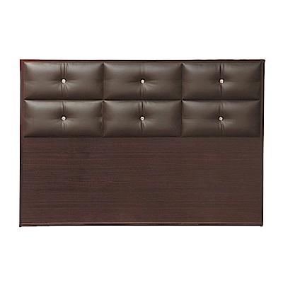 綠活居 蘇雷斯時尚5尺皮革雙人胡桃床頭片-152x5x104cm免組