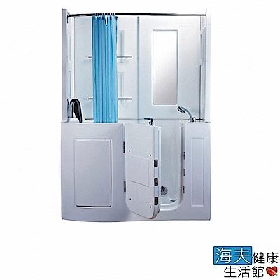 海夫健康生活館 開門式浴缸 106B-T 恆溫水柱按摩款 (152*81*208cm)