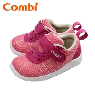 日本Combi童鞋 玩轉經典幼兒機能包鞋-桃心粉