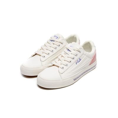 FILA CLASSIC KICKS L 2.0 女百搭帆布鞋-米/粉 5-C932V-195