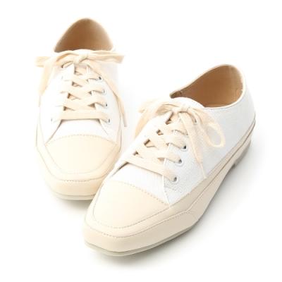 D+AF 自在首選.小方頭多色帆布休閒鞋*白