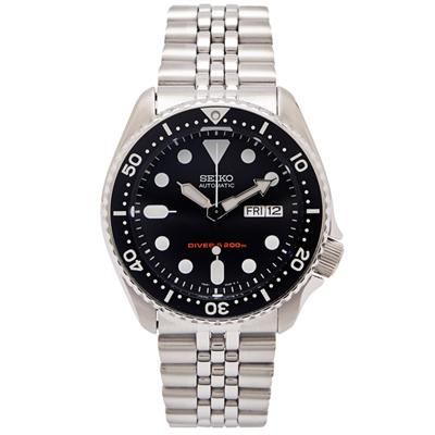 SEIKO 運動潛水機械手錶(SKX007K2)-黑面x銀色/40mm