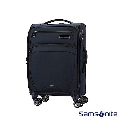 Samsonite新秀麗 20吋 Zira飛機輪可擴充布面TSA登機箱(海軍藍)