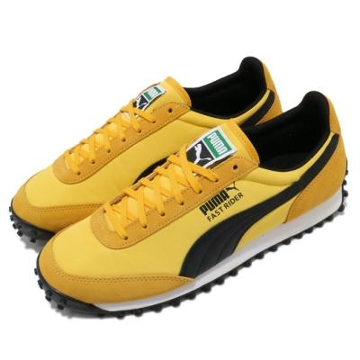 Puma 休閒鞋 Fast Rider SD 復古 男鞋 基本款 麂皮 網布 穿搭推薦 黃 黑 37108202