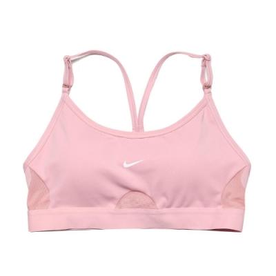 Nike 運動內衣 INDY Training Bra 女款 輕度支撐 瑜珈 健身 重訓 背心 基本款 粉 白 CZ4463630