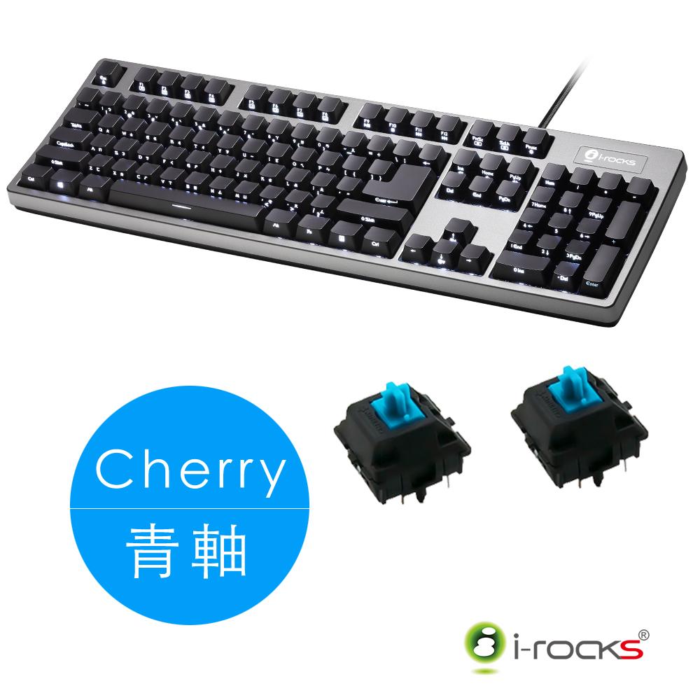 irocks K68MS 側刻 單色背光 機械式鍵盤-Cherry青軸