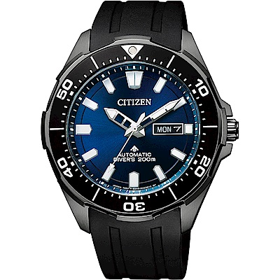 CITIZEN 星辰 PROMASTER 限量鈦200米潛水機械錶-藍x黑/43.5mm
