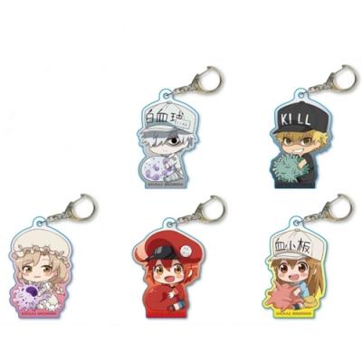 日本正版授權 工作細胞壓克力鑰匙圈 紅血球AKUU-01、白血球AKUU-02、殺手T細胞AKUU-03、巨噬細胞AKUU-04、血小板AKUU-05