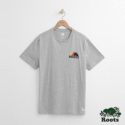 Roots 男裝-   左胸山形短袖T恤-灰