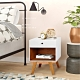 E-home Clementine克萊蒙汀單抽收納床頭櫃 白色 product thumbnail 1