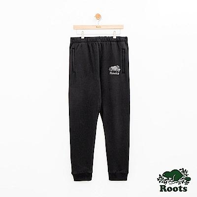 Roots 男裝- 反光庫柏海狸棉質長褲-黑