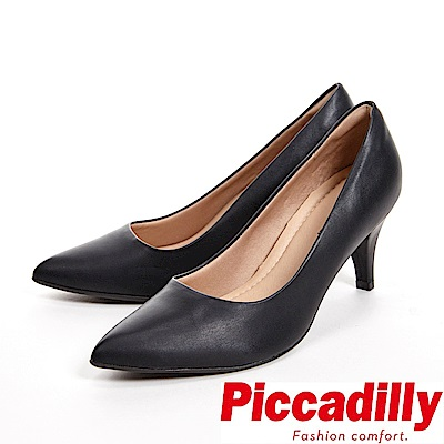Piccadilly 經典款 尖頭中跟女鞋-黑