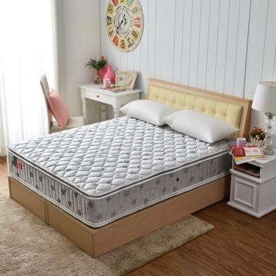雙人加大6尺真四線-竹碳紗除臭+防潑水+護邊+護腰型蜂巢獨立筒床墊正反可睡