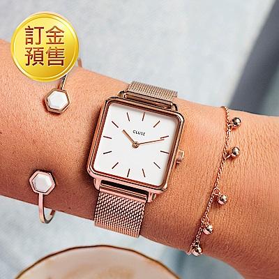 [訂金預售]CLUSE LA GARCONNE 不鏽鋼系列(玫瑰金框/白錶面/玫瑰金錶帶)