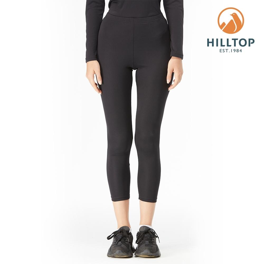 【hilltop山頂鳥】女款THERMOLITE保暖吸濕快乾衛生褲H57F49黑美人