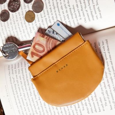KINAZ 真皮彈簧萬用鑰匙零錢包-沉穩棕力量-小物魔法系列-快