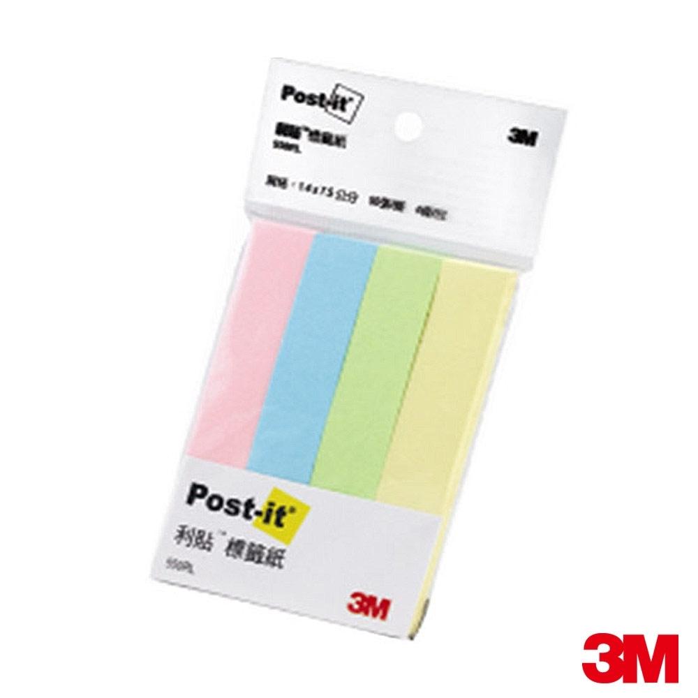 3M Post-it利貼 標籤紙(四色組合)550RL 7000017038(宅配)