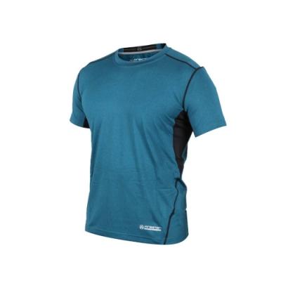 FIRESTAR 男 機能緊身短袖上衣 藍綠